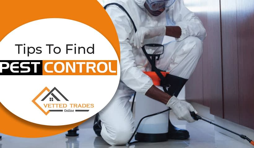 Tips to find pest control